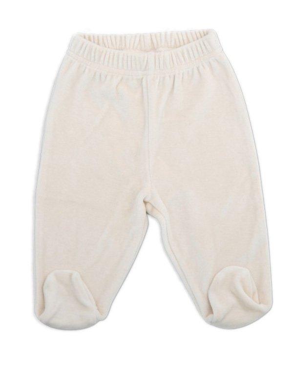 Filobio, pantalone con piedino - panna, 0/1 mese