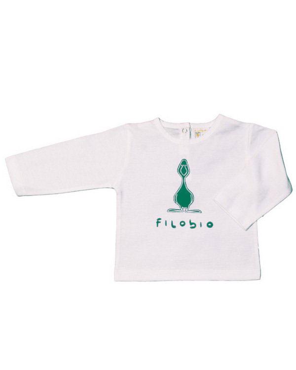 Filobio, t-shirt manica lunga - verde, 18/24