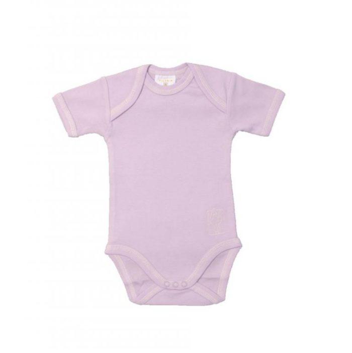 Filobio, body neonato manica corta - lavanda, 1 mese