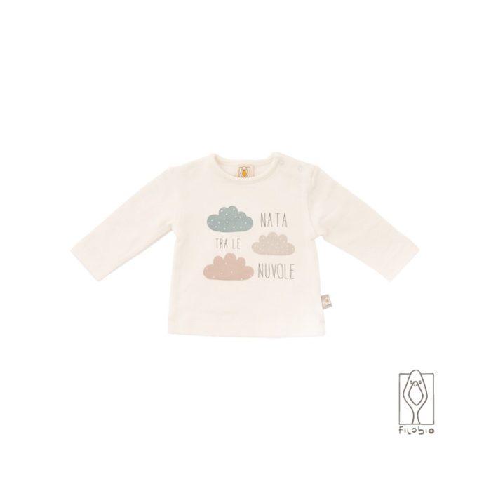 "Filobio, t-shirt "" nata fra le nuvole"""