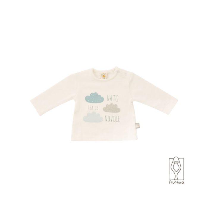 "Filobio, t-shirt ""nato fra le nuvole"" - 18 mesi"