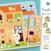 Djeco, Puzzle 3 livelli - Lapins